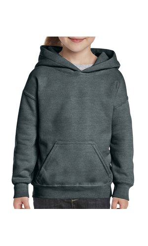 Heavy Blend? Youth Hooded Sweatshirt [Dark Heather, 164]