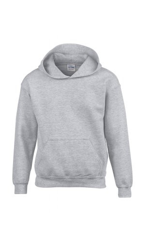 Heavy Blend? Youth Hooded Sweatshirt [Sport Grey (Heather), 176]