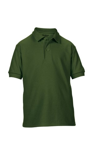 DryBlend® Youth Double Piqué Sport Shirt [Forest Green, 134/140]
