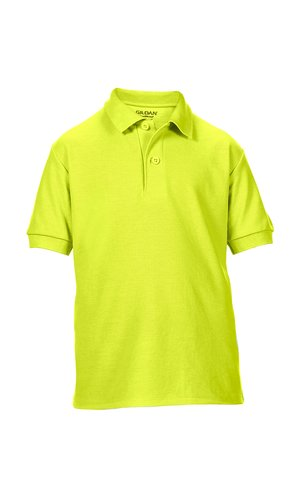 DryBlend® Youth Double Piqué Sport Shirt [Safety Green, 152]