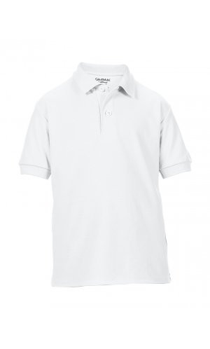 DryBlend® Youth Double Piqué Sport Shirt [White, 152]