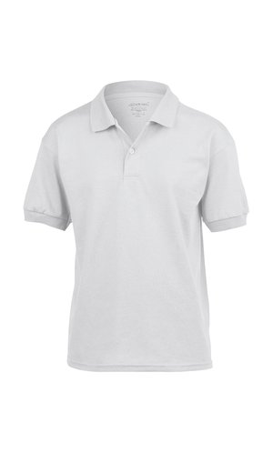 DryBlend® Youth Jersey Polo [White, 164]