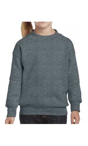 Heavy Blend? Youth Crewneck Sweatshirt [Dark Heather, 104/110]