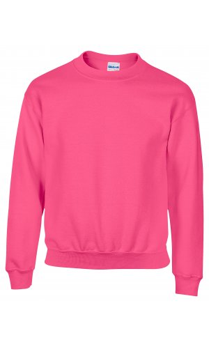 Heavy Blend? Youth Crewneck Sweatshirt [Safety Pink, 104/110]