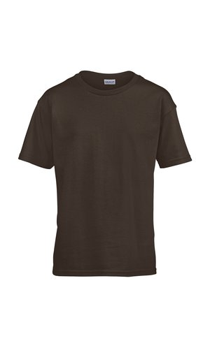 Softstyle Youth T-Shirt [Dark Chocolate, 164]