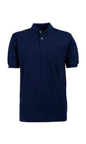 Pocket Polo Piqué [Navy, 2XL]