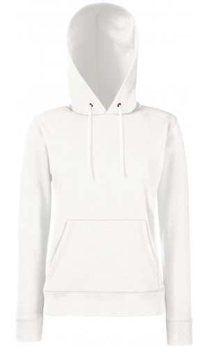 Lady-Fit Hooded Sweat [Weiß, XL]