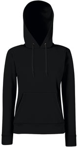 Lady-Fit Hooded Sweat [Schwarz, 2XL]