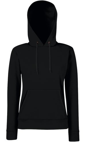 Lady-Fit Hooded Sweat [Schwarz, S]