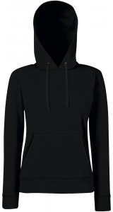 Lady-Fit Hooded Sweat [Schwarz, XS]
