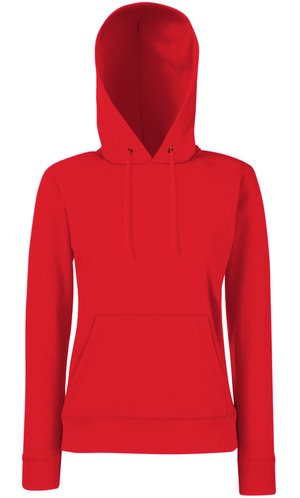 Lady-Fit Hooded Sweat [Rot, 2XL]