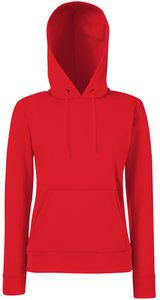 Lady-Fit Hooded Sweat [Rot, L]