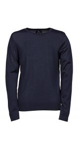 Mens Crew Neck Sweater [Navy, 3XL]