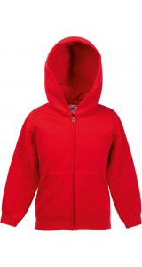 Kids Classic Hooded Sweat Jacket [Rot, 128]