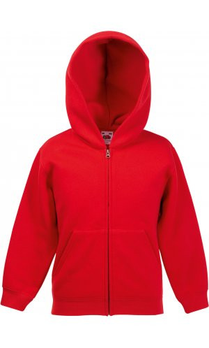 Kids Classic Hooded Sweat Jacket [Rot, 164]