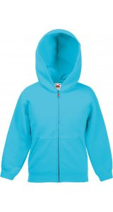 Kids Classic Hooded Sweat Jacket [Azurblau, 116]