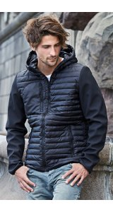 Mens Hooded Crossover Jacket