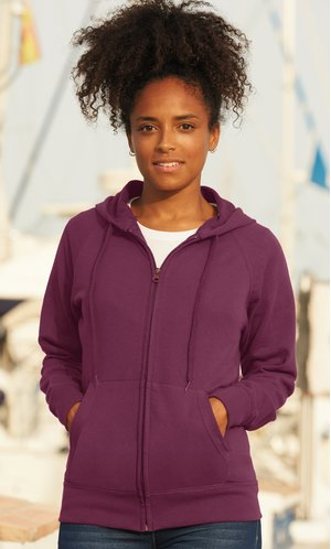 Fruit of the Loom Lady Fit Lightweight Hooded Sweat Jacket