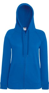 Lady Fit Lightweight Hooded Sweat Jacket [Royal, 2XL]