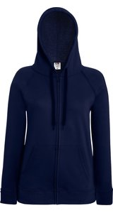 Lady Fit Lightweight Hooded Sweat Jacket [Deep Navy, XS]