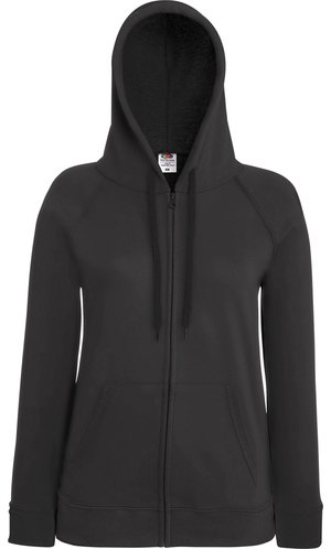 Lady Fit Lightweight Hooded Sweat Jacket [Graphit, M]