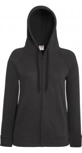 Lady Fit Lightweight Hooded Sweat Jacket [Graphit, XS]