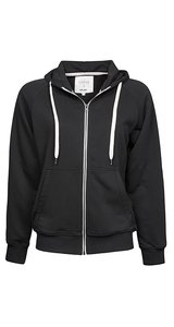 Ladies Urban Zip Hoodie Jacket [Black, L]