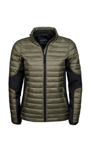 Ladies Crossover Jacket [Olive Black, S]