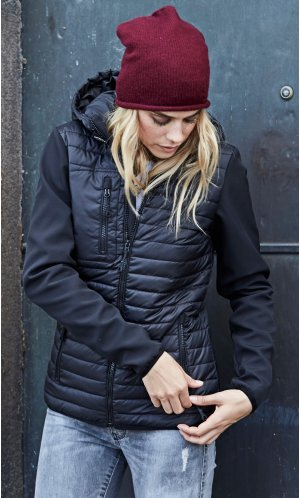 Ladies Hooded Crossover Jacket