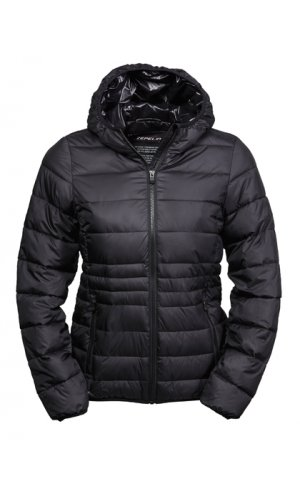 Ladies Hooded Zepelin Jacket [Black Black, S]