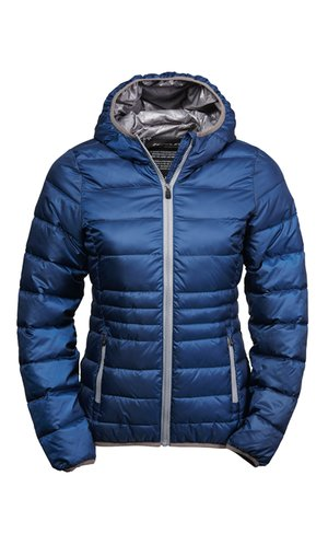 Ladies Hooded Zepelin Jacket [Navy Grey, S]