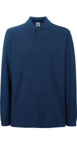 Premium Long Sleeve Polo [Navy, M]