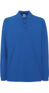 Premium Long Sleeve Polo [Royal, L]