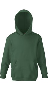 Kids Classic Hooded Sweat [Flaschengrün, 128]