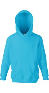 Kids Classic Hooded Sweat [Azurblau, 140]