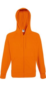 Lightweight Hooded Sweat Jacket [Orange, 2XL]