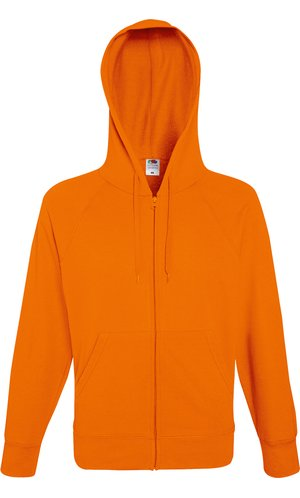 Lightweight Hooded Sweat Jacket [Orange, XL]