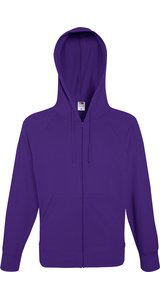 Lightweight Hooded Sweat Jacket [Violett, L]