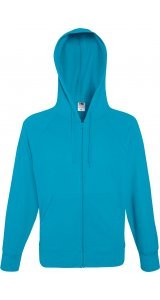 Lightweight Hooded Sweat Jacket [Azurblau, L]