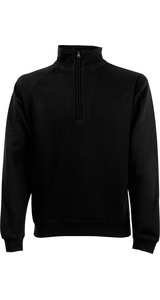 Classic Zip Neck Sweat [Schwarz, 2XL]