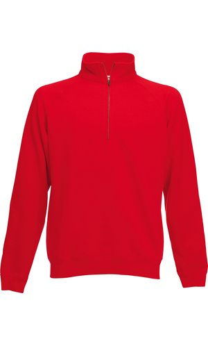 Classic Zip Neck Sweat [Rot, 2XL]