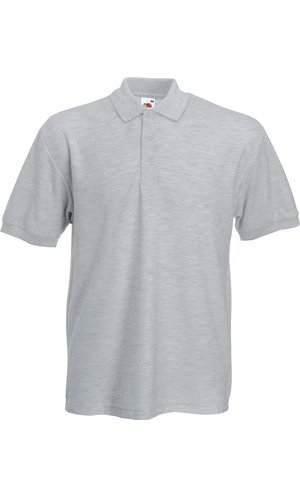 Heavy 65/35 Polo [Graumeliert, XL]