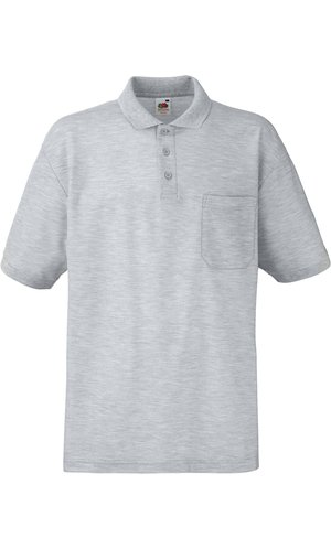 65/35 Pocket Polo [Graumeliert, S]
