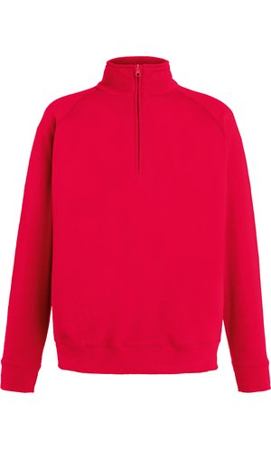 Lightweight Zip Neck Sweat [Rot, S]