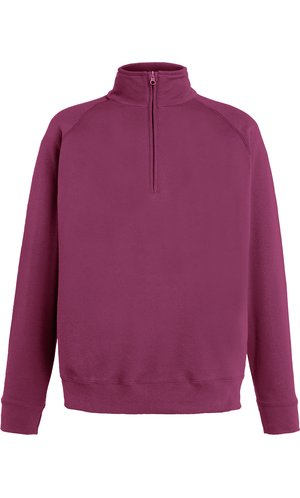 Lightweight Zip Neck Sweat [Burgund, S]