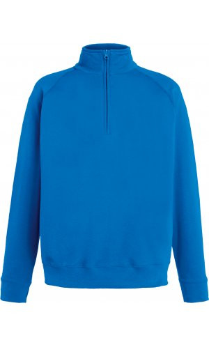Lightweight Zip Neck Sweat [Royal, S]