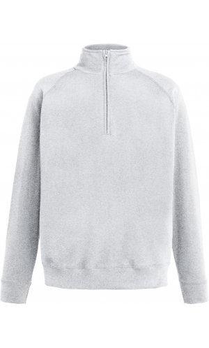 Lightweight Zip Neck Sweat [Graumeliert, S]