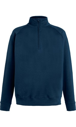 Lightweight Zip Neck Sweat [Deep Navy, S]