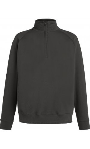 Lightweight Zip Neck Sweat [Graphit, S]