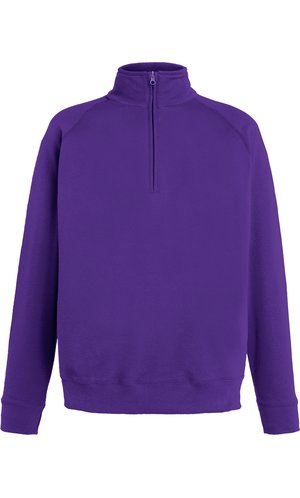 Lightweight Zip Neck Sweat [Violett, XL]